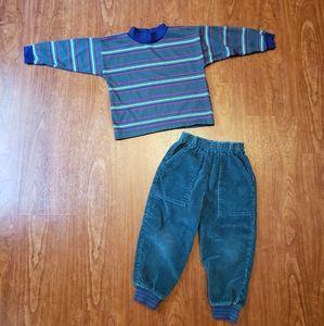 Vintage healthtex long sleeve Corduroy pants 4/5
